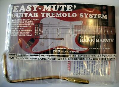 NEW Easy Mute 130mm Gold USA  As used By Hank B Marvin USA Push in Version
