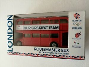 CORGI-ROUTE-MASTER-TEAM-BUS-GB-DIE-CAST-LONDON-OLYMPIC-2012-BRAND-NEW-BOXED