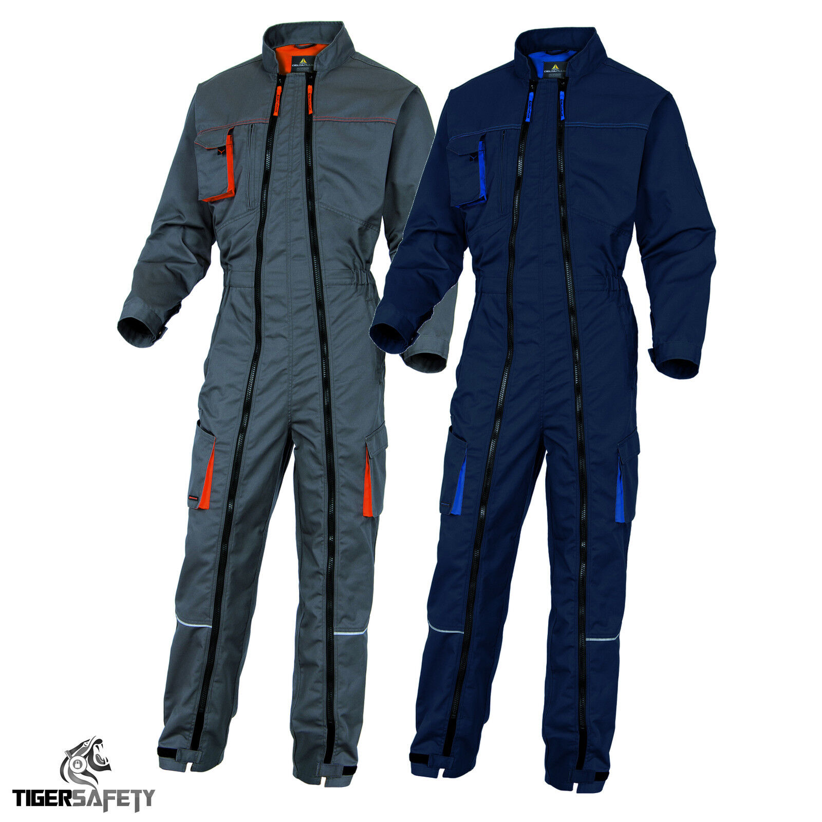Delta Plus Panoply MCCOM Mach2 Corporate Blue Work Overalls Coveralls Boilersuit