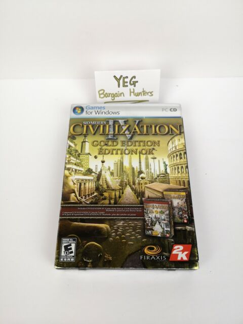 Sid Meier's Civilization IV: GOLD EDITION (PC, 2007) Brand New Sealed Canadian