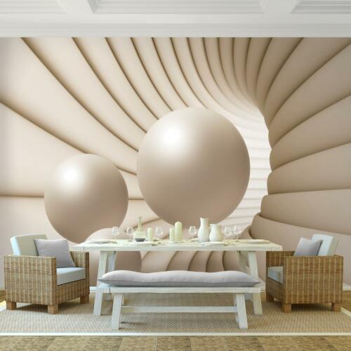 Vlies Fototapete 3D Tunnel Kugel Tapete Wandbilder XXL Wohnzimmer