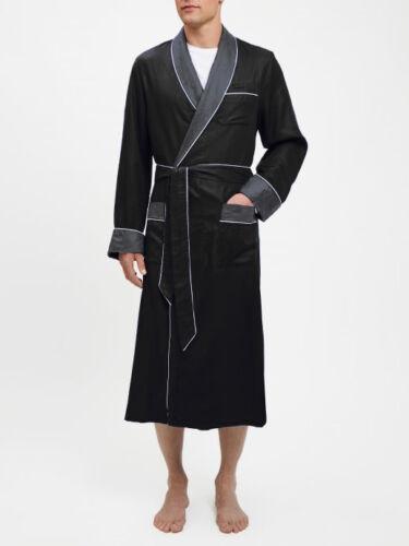 Grey Fully lined Heavy weight  Black Mens Long Silk Satin Robe