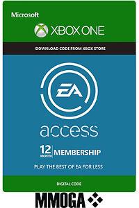 EA Access 12 meses abo Xbox One pertenencia key subscription código 12 months
