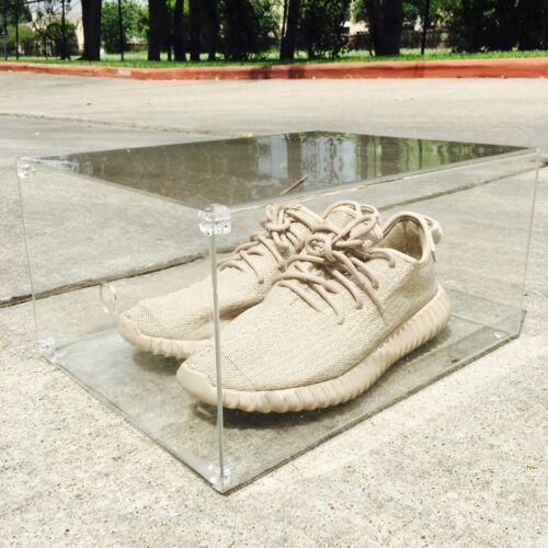 Luxury Sneaker Display Box with Magnet Drop Front Door 100/% Clear  360° View