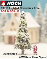 Noch 33910 N Scale White Lighted Christmas Tree Santa Claus 2 $0 Shipping