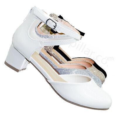 GirlyIIS Children/'s Open Toe Bow Slingback Small Block Heel Sandals