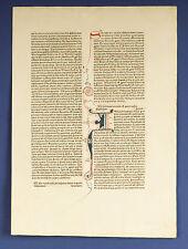 """Inkunabel, Buchseite mit handausgemalten Initialen, 1498 """"I""""(sehr gut erhalten)"""