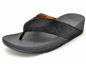 dbea09d0e94b8 Image is loading Fitflop-Ritzy-Toe-Thong-Leather-M57-001-Black-