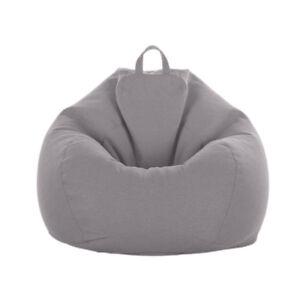 Large-Adult-Teen-Size-Bean-Bag-Cover-Super-Soft-Garden-Gamer-Chair-Sofa-Grey