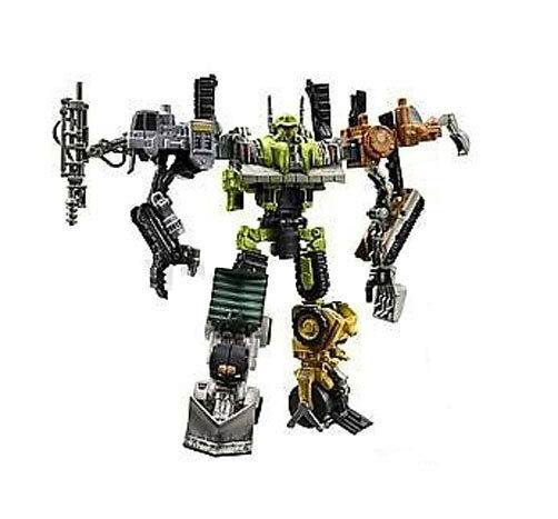 Transformers STEAMHAMMER Construction Vehicle Combiner figures boxed set NICE