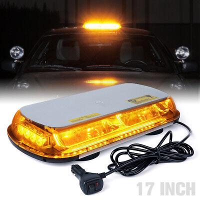40 LED 13 Vehicle Flash Emergency Beacon Warn Strobe Top Light Bar Amber Yellow