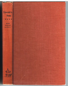 Lincoln-039-s-Sons-by-Ruth-Randall-1955-1st-Ed-Vintage-Book