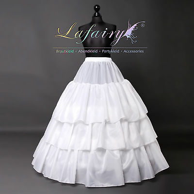 Reifrock Unterrock Petticoat Verstellbar Gummiband Weiß 3 Ringe Lafairy Neu De