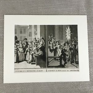 Picart-Engraving-Original-18th-Century-Rare-Antique-Art-Print-Holland-Ceremony
