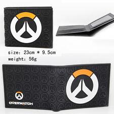 "USA Overwatch 4x5"" Bi-fold Wallet Insignia LOGO New Video Game (10 x 12 cm)"