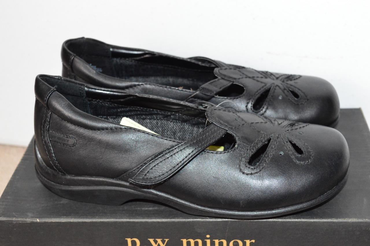 scegli il tuo preferito P.W.MINOR Tia nero Orthopedic Orthopedic Orthopedic Mary Janes scarpe Dimensione 6.5 W  forma unica