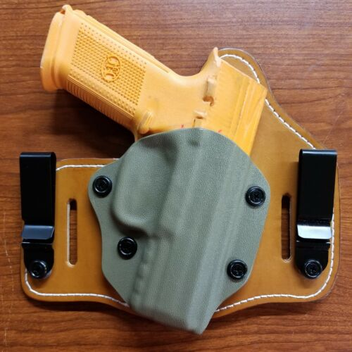TAURUS MODELS  IWB /& OWB TUCKABLE HYBRID HOLSTER KYDEX FITS RUGER LEATHER CCW