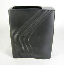 Rosenthal jarrón de porcelana Martin Freyer desiogn porcelaine noire op art 17cm