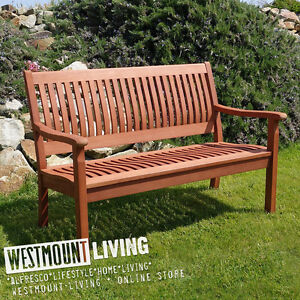 Magnificent Details About 4Ft Wooden Garden Bench Seat Two Seater Hardwood Outdoor Furniture New Download Free Architecture Designs Fluibritishbridgeorg
