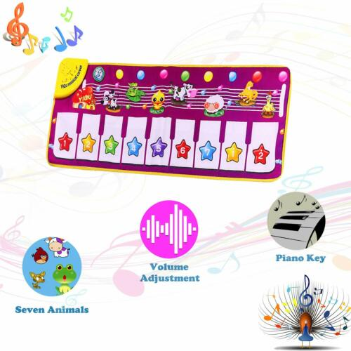 Kid Toy Play Mat Baby Piano Keyboard Singing Music Musical Animal Carpet Gift Gi