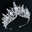 Bridal-Princess-Party-Crystal-Tiara-Wedding-Crown-Veil-Hair-Accessory-Headband thumbnail 19