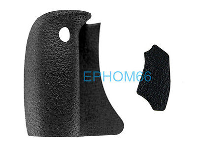 A Set Main Front Right Grip Rubber + Rear Back Holding Rubber For CANON EOS 550D