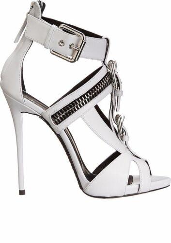 Details about  /Punk Womens PU Leather Stilettos Pumps Sandals Open Toe Metal Buckle Shoes jf00
