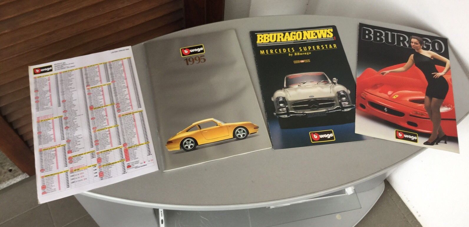 VINTAGE BURAGO BBURAGO CATALOGO CATALOGUE 1995+ UPDATE+  FERRARI F50 Fascicolo