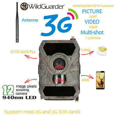3G MMS GPRS Scouting Game Farm Security Cam Hunting Camera Scouting WG-890WG