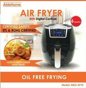 Electric-Air-Fryer-6-Qt-1700W-Digital-Timer-Temp-Control-8-Presets-Oil-less
