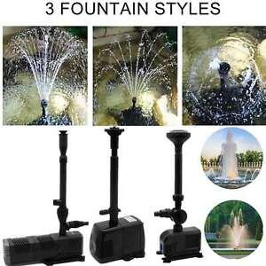 8-24W Teichpumpe Springbrunnenpumpe Wasserspiel Gartenpumpe Wasserpumpe Pumpe