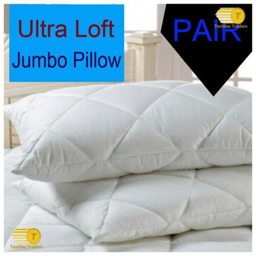 4 Pack Ultra-Loft Super Jumbo Bounce Back Pillows