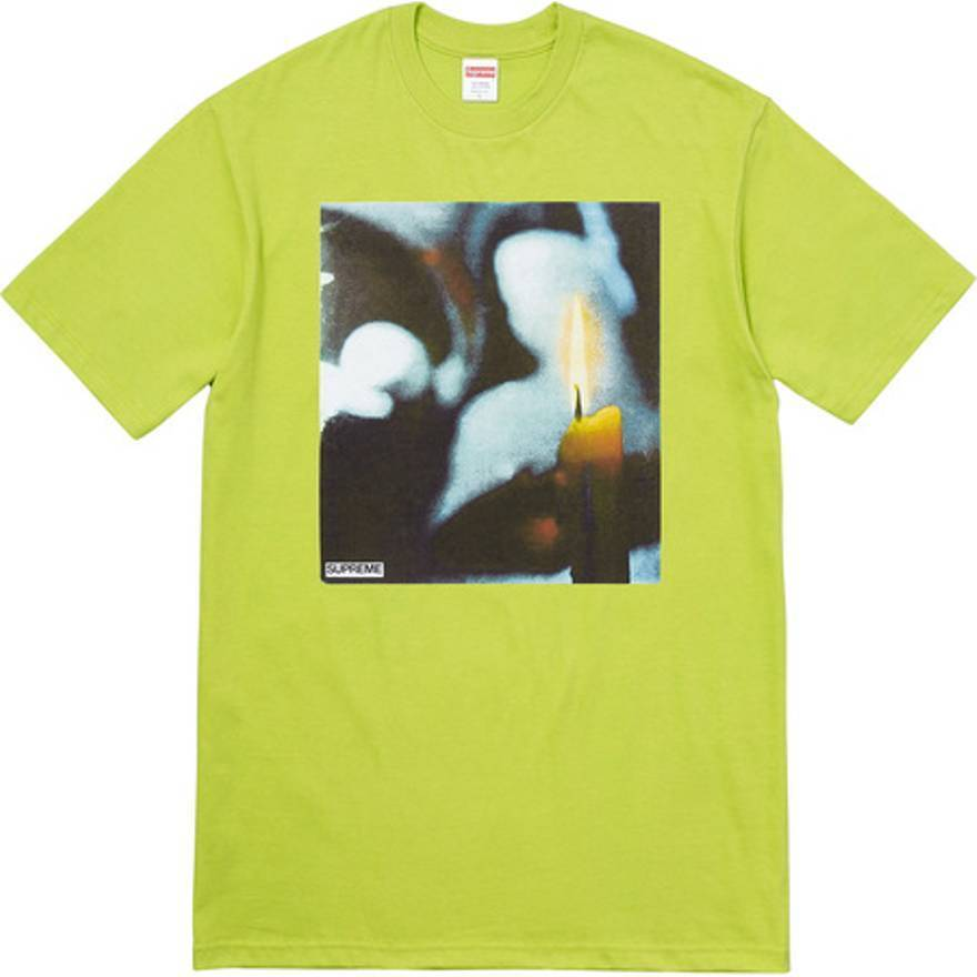 Supreme LIME Candle Tee Size XL FW17-VERY RARE-SOLD OUT IN MINUTES