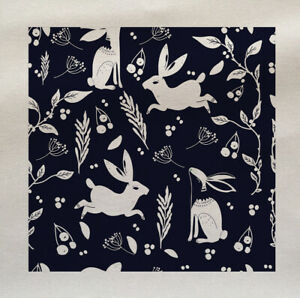 Printed Fabric Panel Make A Cushion Upholstery Craft Vintage Hare