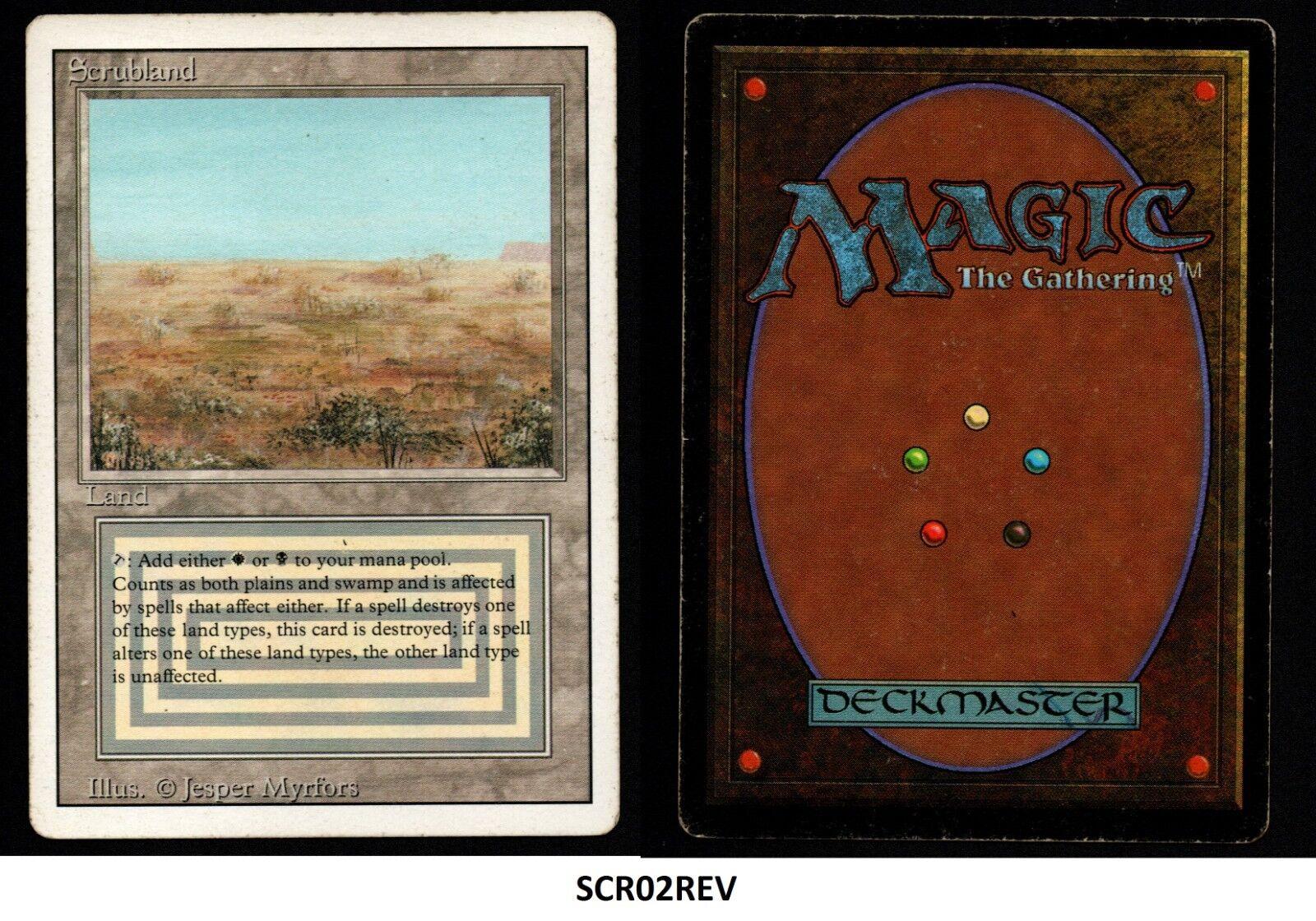 Mrm english scrubland-bush good played mtg magic revised (scr02rev)