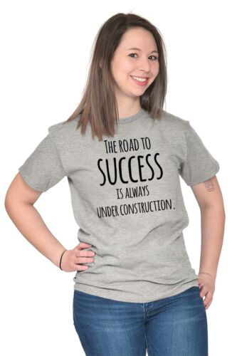 Road To Success Is Always Under Construction Short Sleeve T-Shirt Tees Tshirts