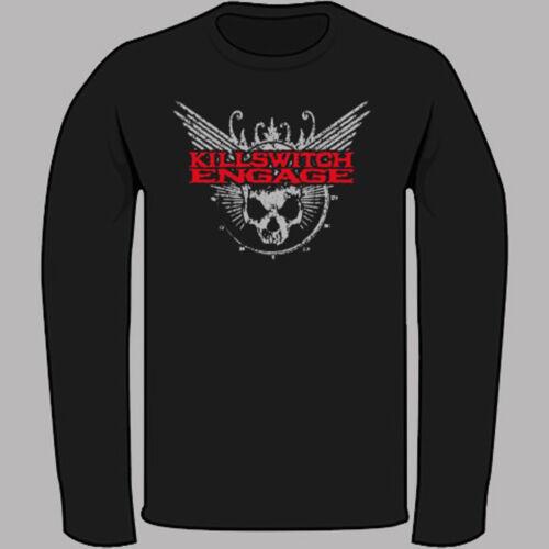 Killswitch Engage Metal Rock Band Logo Black Long Sleeve T-Shirt Size S to 3XL