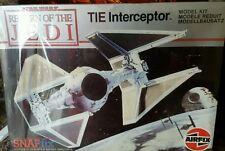 Star Wars Tie Interceptor Fighter Vintage Airfix Kit ROTJ 1983! Rare/Sealed NEW