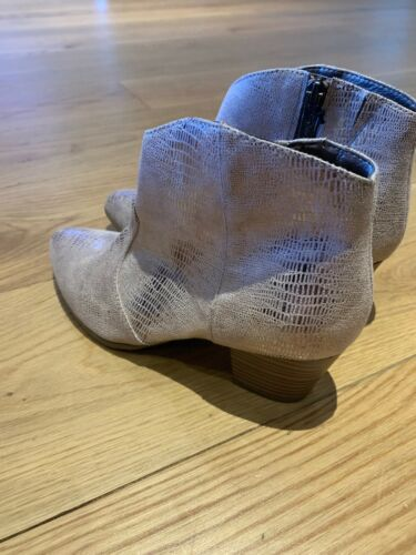 £130 Brand Tamaris Rrp Boots Ankle Size Lizard New Leather 37 Heeled 00 vvrqaR