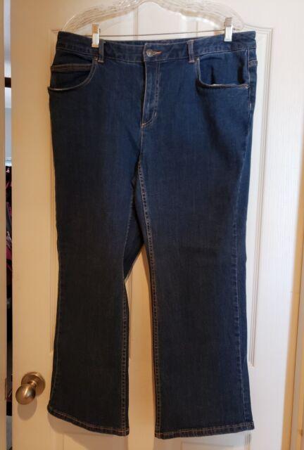 0c8633f854e Liz Claiborne Women s Classic Stretch Jeans Plus Size 14WP Bootcut petite