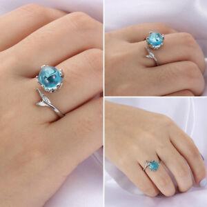 schmuck-silber-farbe-blue-crystal-meerjungfrau-blase-ringe-verstellbare-groesse