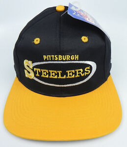 31661199f Image is loading PITTSBURGH-STEELERS-NFL-VINTAGE-1990s-SNAPBACK-RETRO-2-
