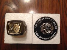 Los Angeles LA Lakers Dr. Jerry Buss Ring & 2014 Kings Stanley Cup Ring SGA