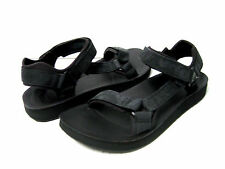 ea507d443e42 Teva Original Universal Premier Leather Women Sport Sandals Black US 8   UK6 EU39
