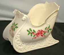 Lenox HOLIDAY Dimension Large SLEIGH Accent Centerpiece Vase Bowl Candy Dish