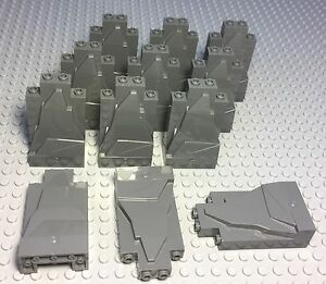LEGO-X12-NEW-DARK-BLUISH-GRAY-ROCK-PANEL-WALLS-2X4X6-BULK-PARTS-LOT-PIECES