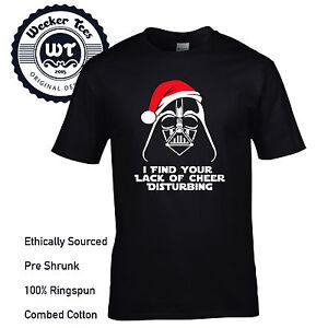 8f9bbc356 New Funny Darth Vader Star Wars Themed Christmas T Shirt Force ...