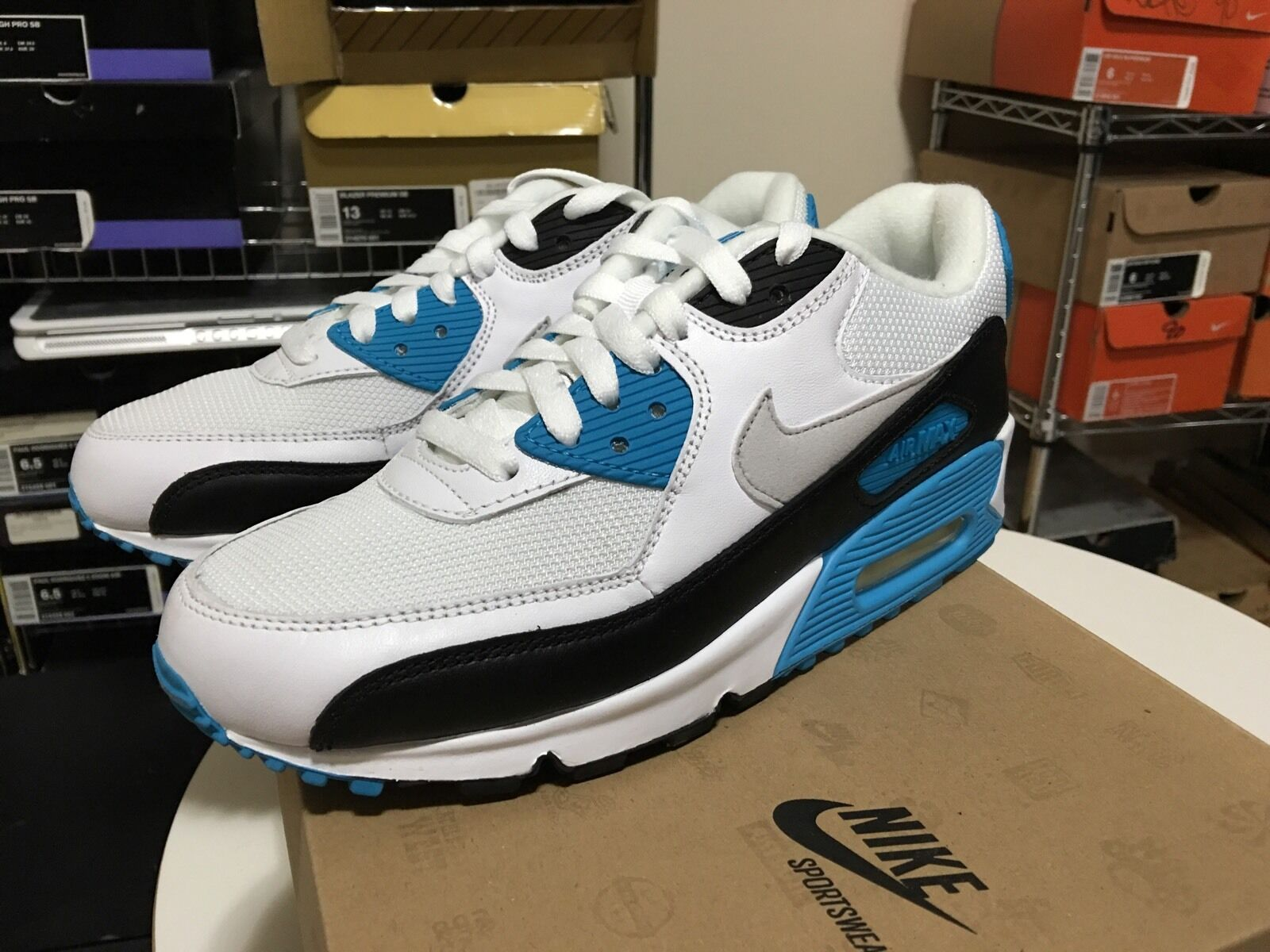 Nike Air Max 90 Size 6 Laser bluee DS History Of Air Hoa Bacon 1 95 97