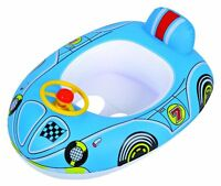 Inflatable Kiddie Race Car Beach Summer Swimming Pool Toy Blue For Kids
