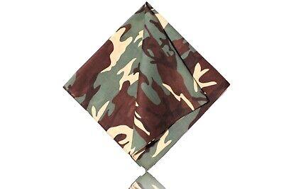 Humorvoll Bandana Scarf Kopftuch Cotton Wolle Travel Reisen Schal Paisley Camouflage Grün